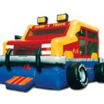 Monster Wheels Bouncy Castle